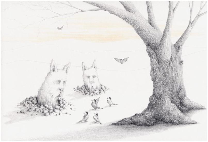 The Wormbunnies Meet the Birdmen Under a Tree