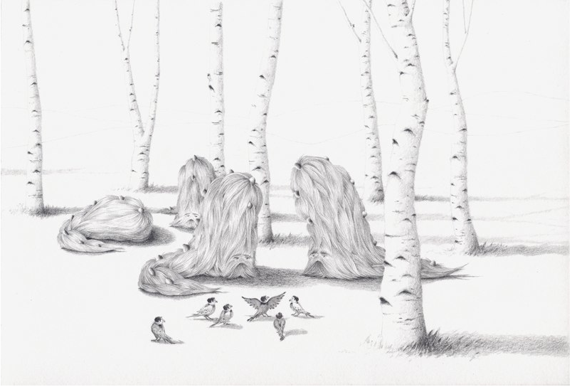 The Guineasaurs and the Birdmen Meet Under the Aspens