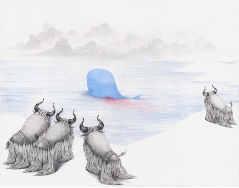 The Bleeding Whale Goes Home
