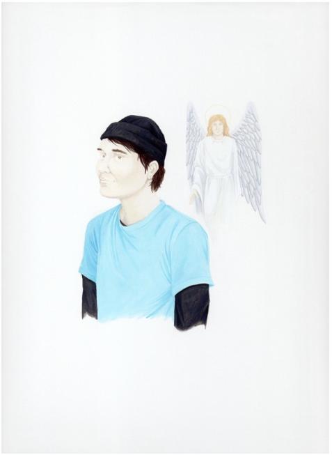 Self-Portrait with Guardian Angel