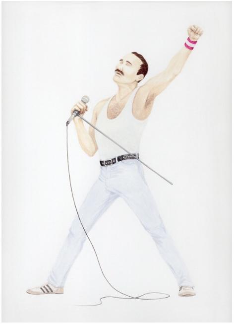 Self-Portrait as Freddie Mercury, circa 1985