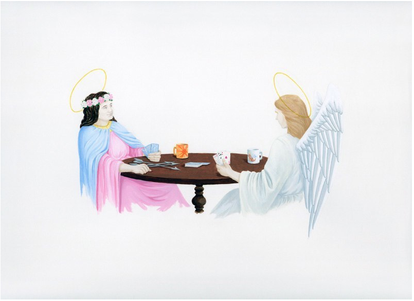 St. Philomena and My Guardian Angel Play Cards