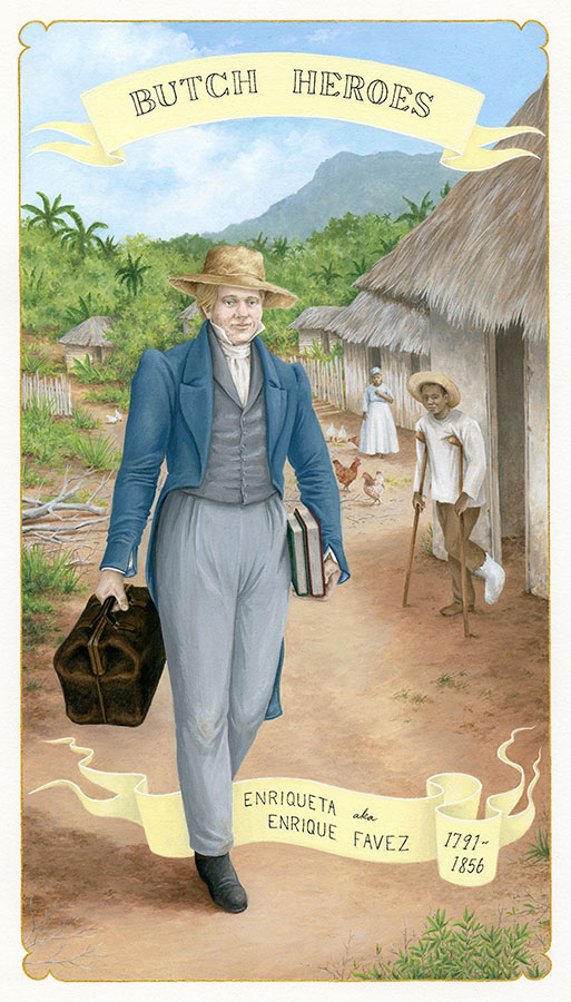 Enriqueta aka Enrique Favez 1791- 1856  Cuba gouache on paper, 11 x 7 inches 2017
