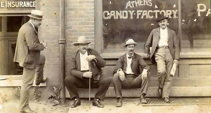 Some Gentlemen Outside of the Candy Factory