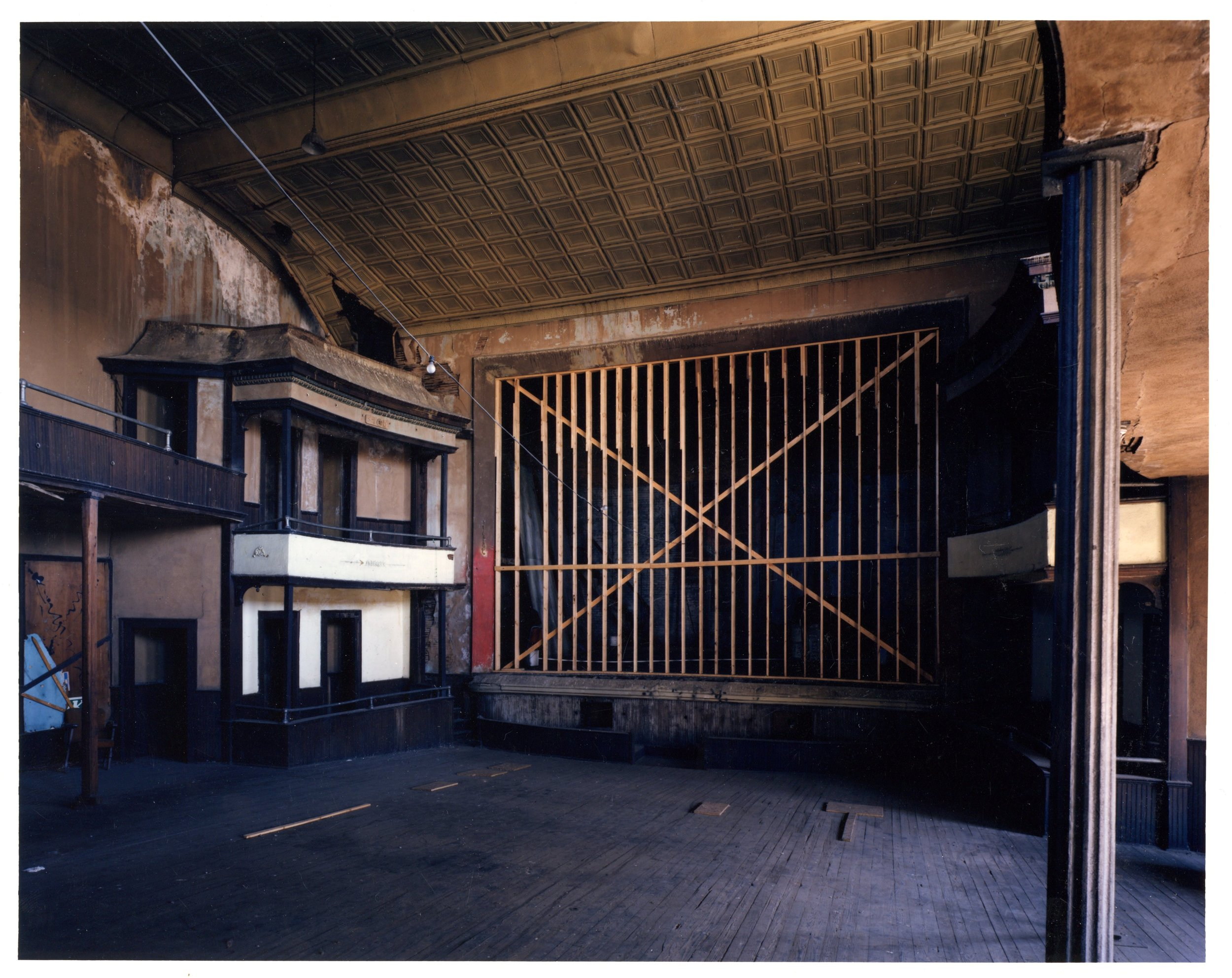 The Stage During Renovations