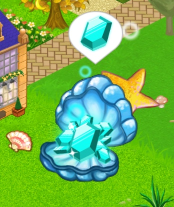 A Magic Gem Shell that has 10 gems ready to collect