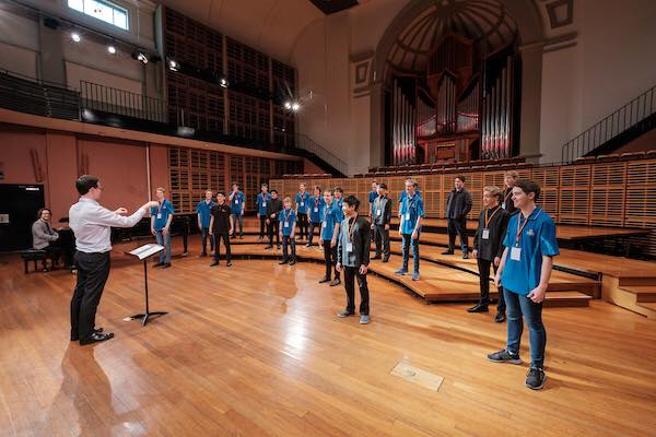 In Soundcheck with Young Men's Choir