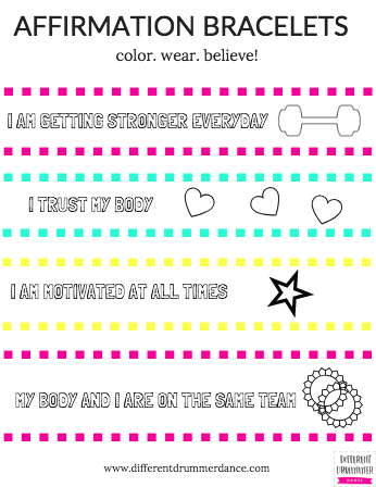 Affirmation coloring bracelets to use with your students are just some of the goodies in the DDD Online Store!