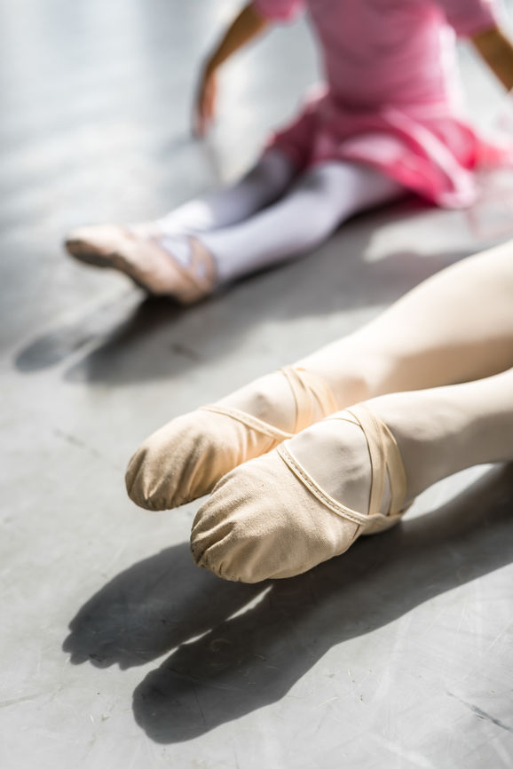 Close Up Of Ballerina's Feet