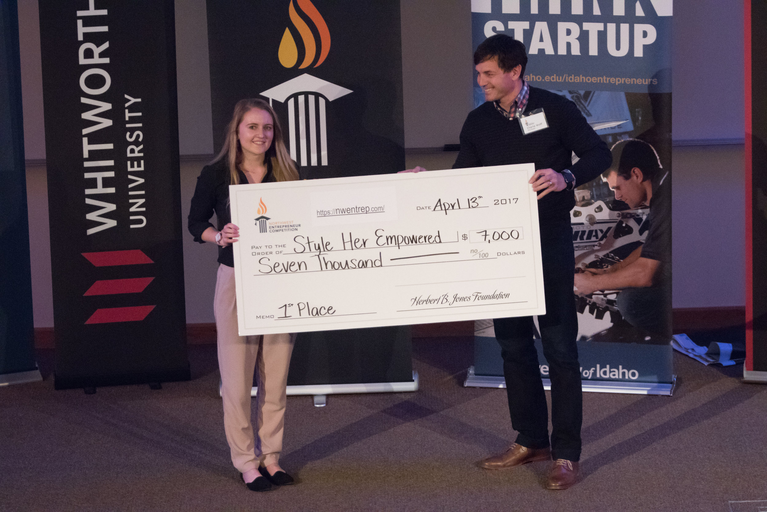 First place winner, Style Her Empowered, from University of Idaho