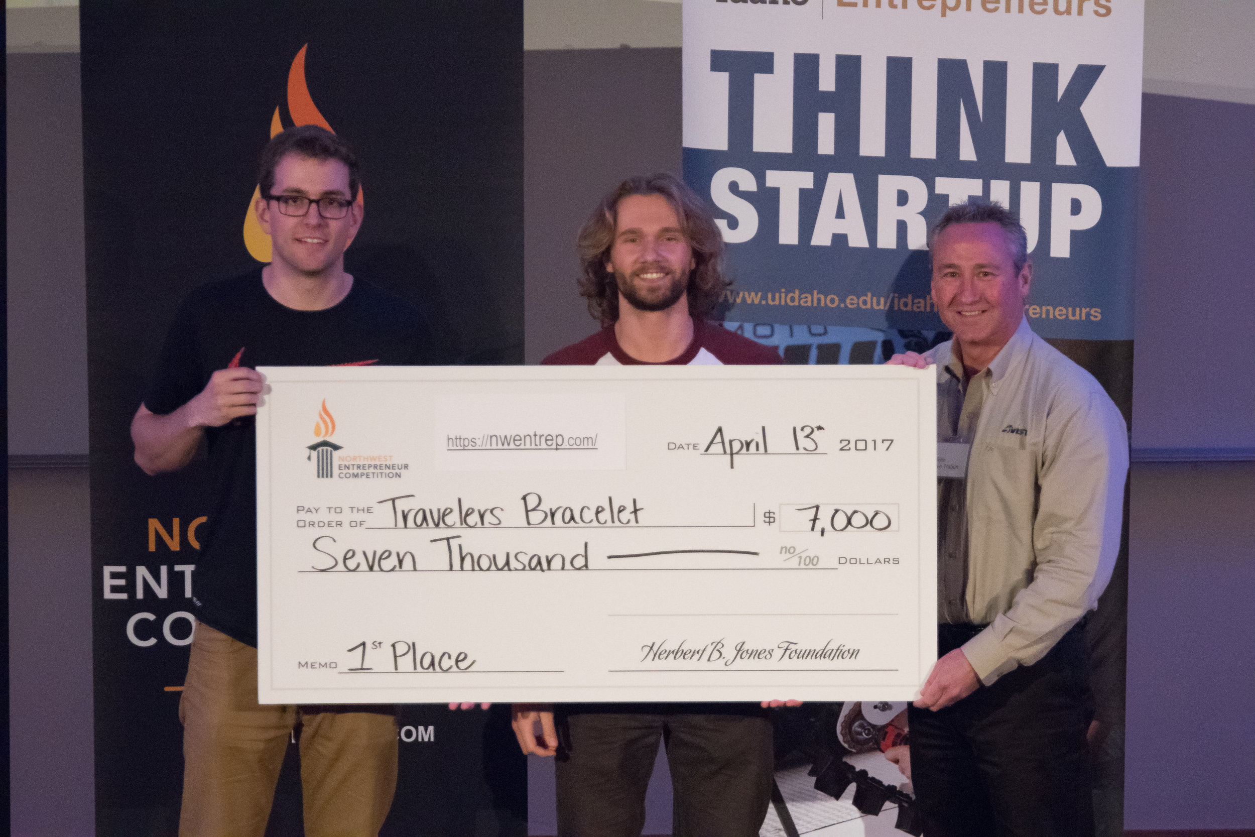 First place winner, Traveler's Bracelet, from Gonzaga University
