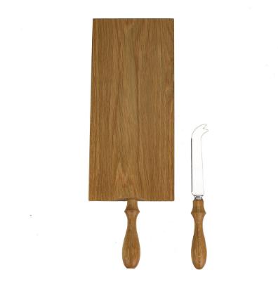 Oak Cheese Board and Knife Set, $39
