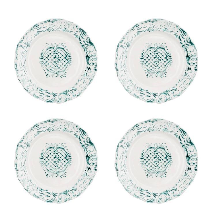 Hand Printed Plates, $275
