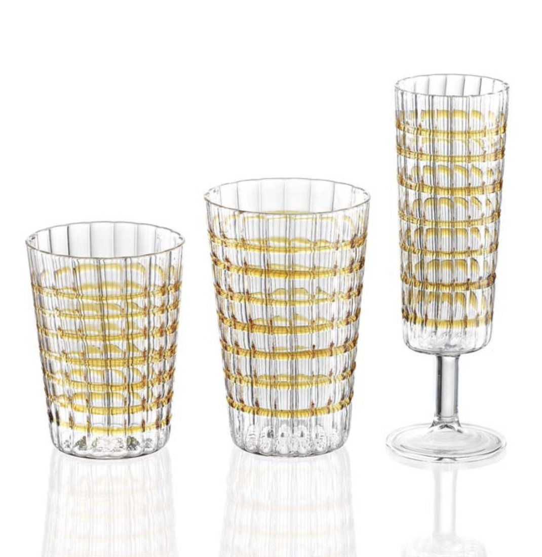 Amber Glass Set, $320 (18 pieces)