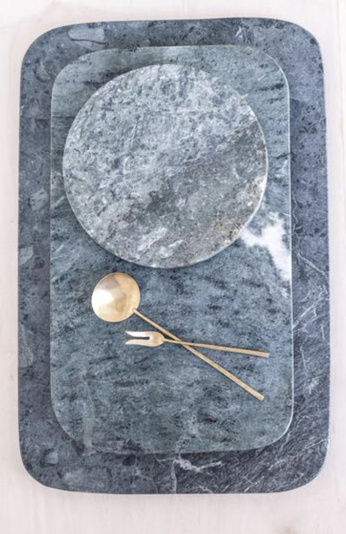 Green Marble Tray, $95-$180