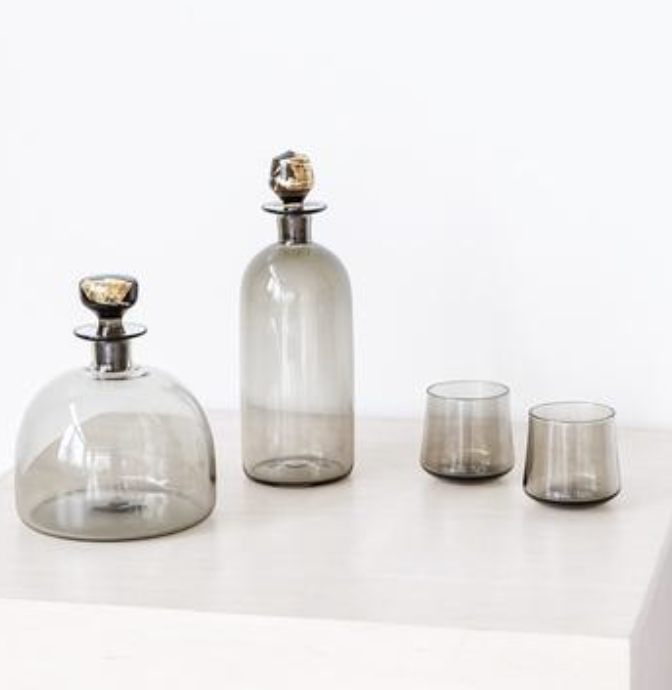 Glass Decanter & Cups, $64.00