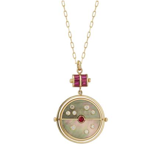 Grandfather Compass Pendant in Mother of Pearl, $5980