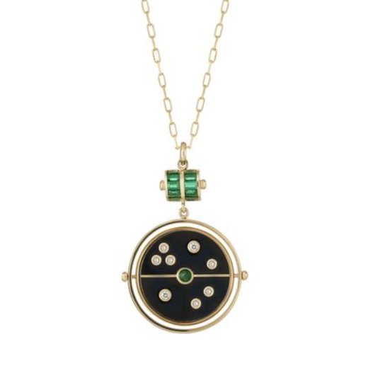 Grandfather Compass Pendant in Onix, $6500