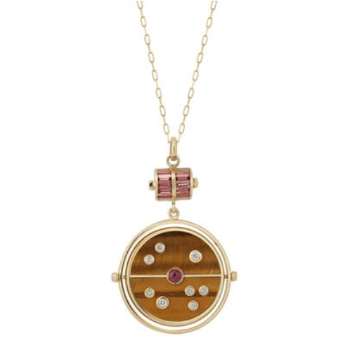Grandfather Compass Pendant in Tiger's Eye, $4905