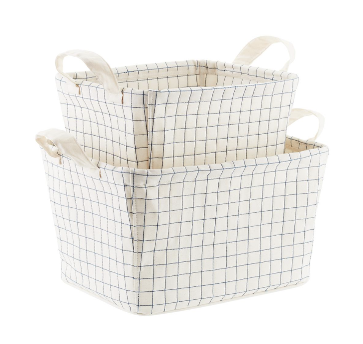 Canvas Quilted Bin, $16-22