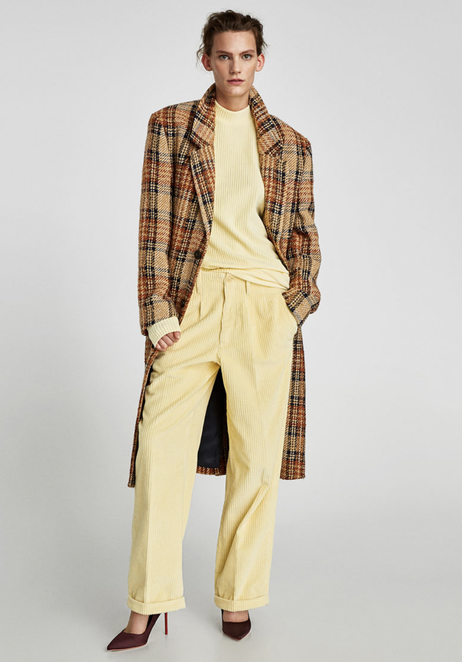 Men's Check Coat, $249