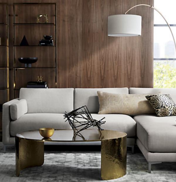 CB2 Tesso Bronze Shelf, $399