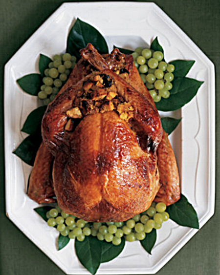Maple-Syrup-Glazed Roast Turkey with Riesling Gravy via Martha Stewart