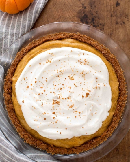 Chiffon Pumpkin Pie via Simply Recipes