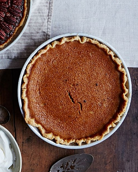 James Beard's Rich Pumpkin Pie via Food 52