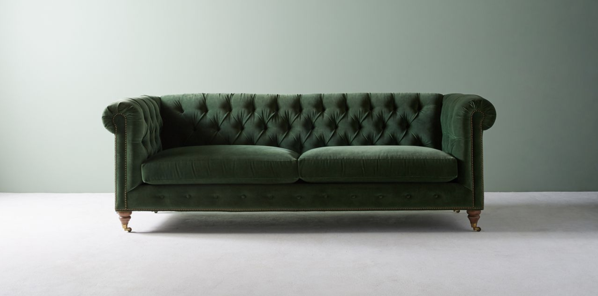 Anthropologie Lyre Chesterfield Two-Cushion Sofa, starting at $2,298.00