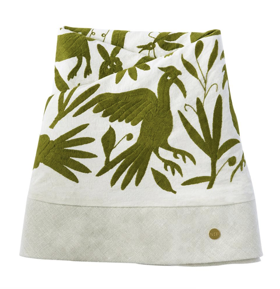 Green Otomi Tablecloth, $1250