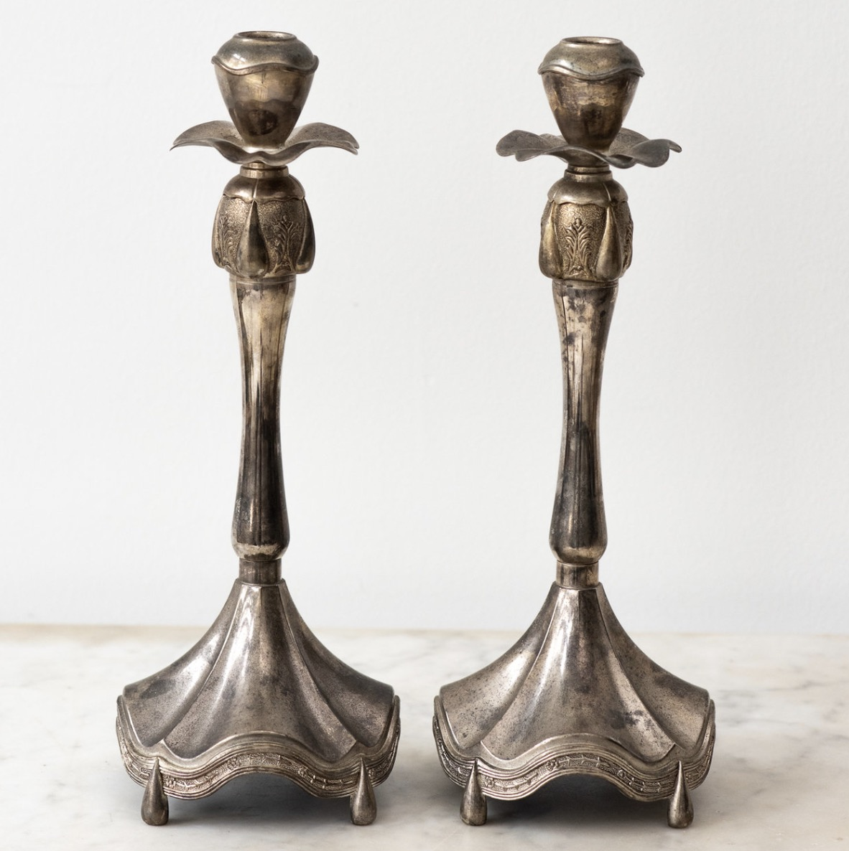 Silver Candlesticks, $225