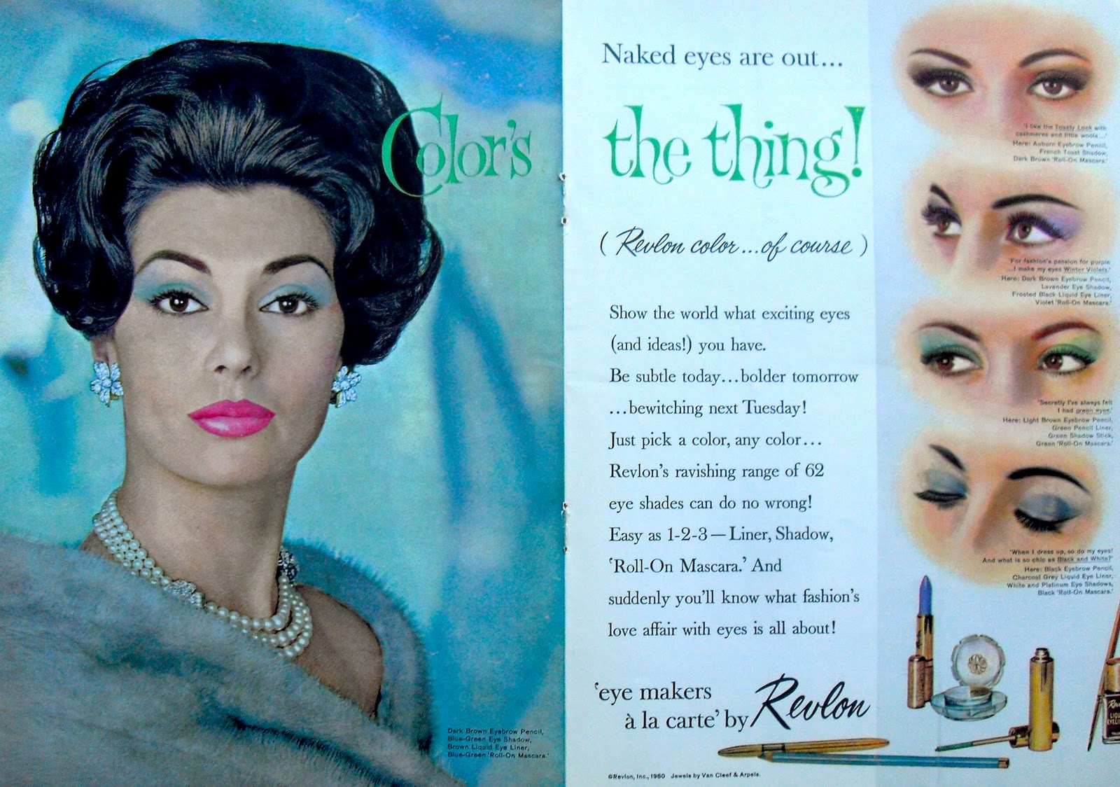 1960 REVLON COSMETICS Vintage Magazine Advertisement.jpg