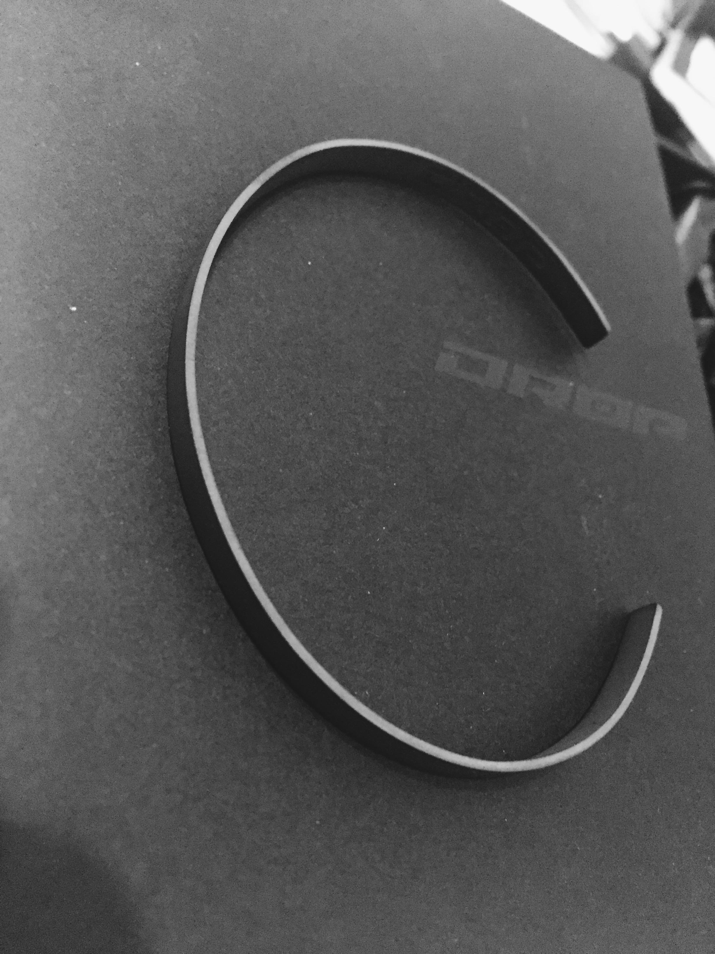 925 Sterling Silver Cuff - Cement - DROP