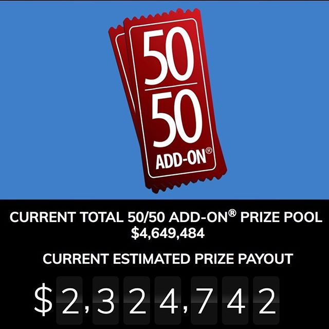 The winner of the 50/50 Add-On is Patricia Falco from Toronto and the lucky winning ticket # is 6 190 241. Congratulations ! The total of 50/50 Add-On Prize Pool is $4,649,484 and the Prize Payout to the winner is $2,324,742 💸💸