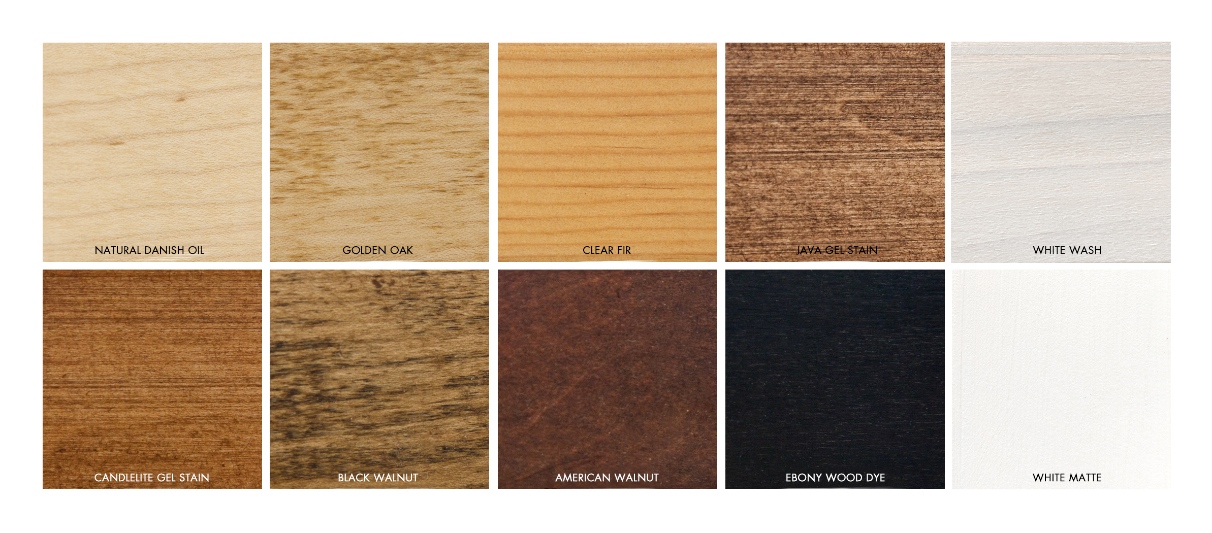 WOOD STAIN COLORS for float frames + Panel boxes