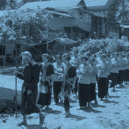 Procession at a funeral in Tana Toraja.