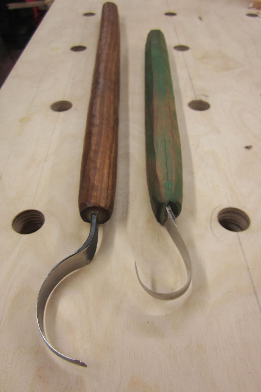 Belzeboo Crafts 5cm Hades blade with a cherry handle. Mora 164 with a cherry handle.
