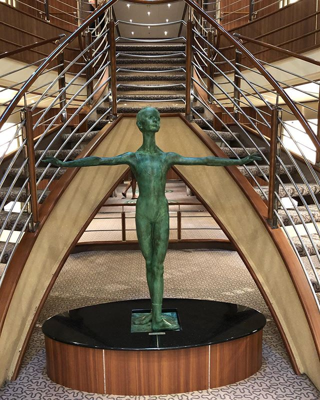 Art abounds on the amazing Silver Spirit.  Keep your eyes open at all times.  @silverseacruises #silverseacruises #cruiseships #cruise #cruiselines