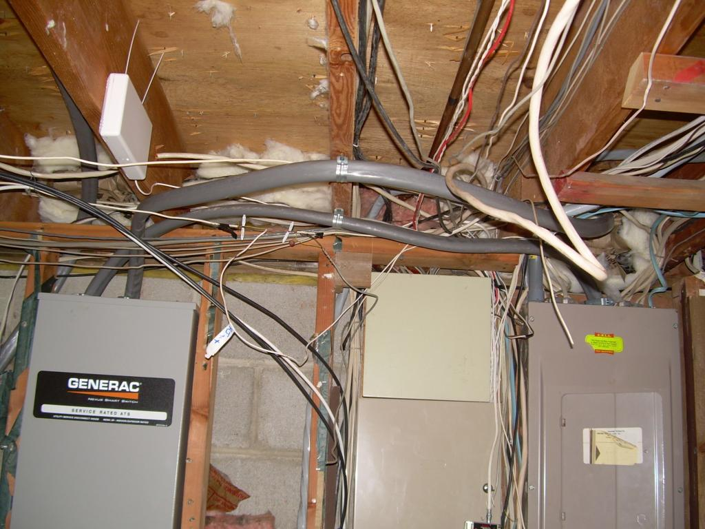 An example of subpar basement wiring that can cost you big time