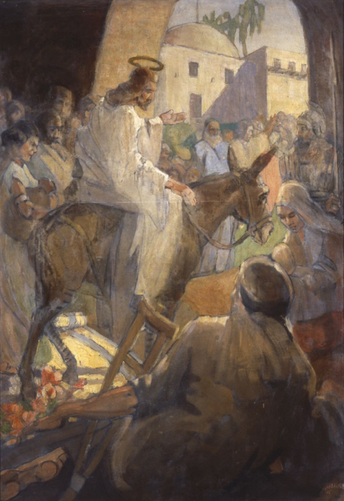 Christ's entry into Jerusalem, by Minerva Teichert