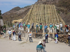 Huichol traditional building project