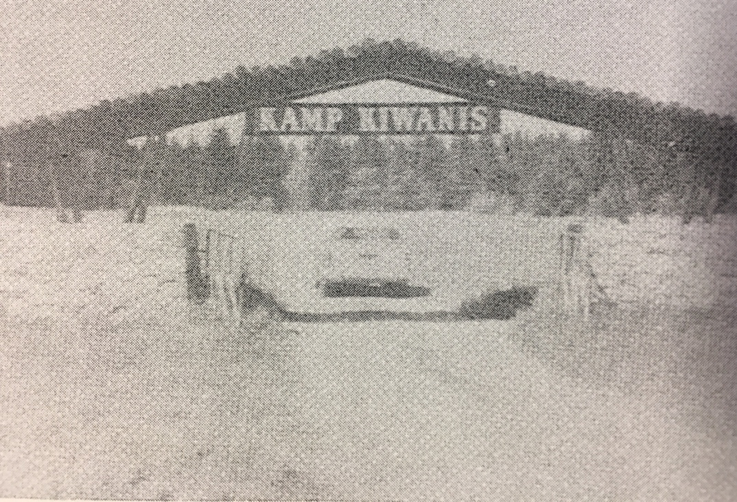 Original entrance to Kamp Kiwanis in 1950s