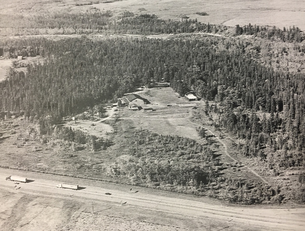 Aerial view of Kamp Kiwanis from early 2000s