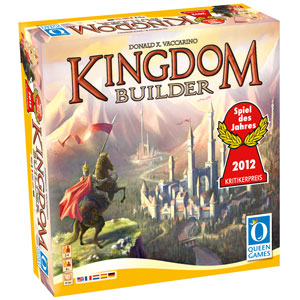 Each game, players will use a random set of Kingdom Builder cards , special actions, and terrain sectors to build the map, ensuring you won't play the same game twice! By skillful building of settlements players create their own kingdoms, aiming to earn the most gold at the end of the game.