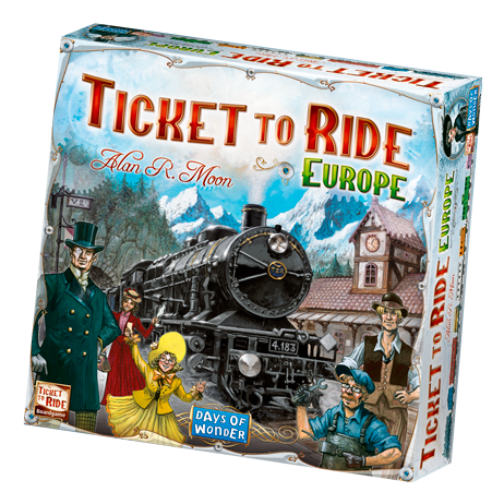 From the craggy hillsides of Edinburgh to the sunlit docks of Constantinople, from the dusty alleys of Pamplona to a windswept station in Berlin, Ticket to Ride Europe takes you on an exciting train adventure through the great cities of turn-of-the-century Europe.