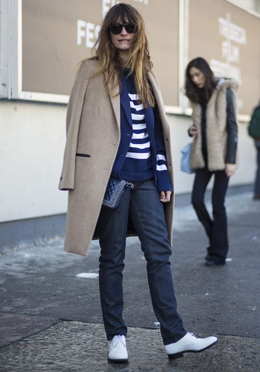 Caroline de Maigret is my street style dream. Focusing on mens tailoring she injects rocker chic as a French master! For my page on Caroline, visit  here .