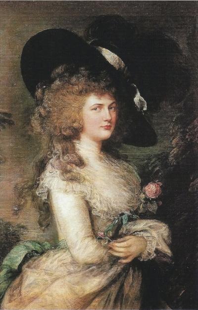 Portrait of Georgiana, Duchess o Devonshire by Thomas Gainsborough 1787.jpg