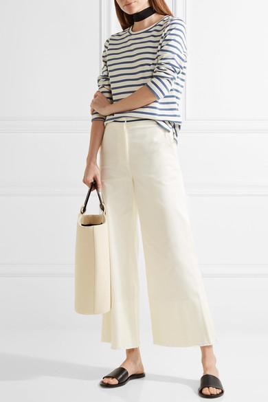 LA LIGNE Cropped cotton-blend twill wide-leg pants.jpg