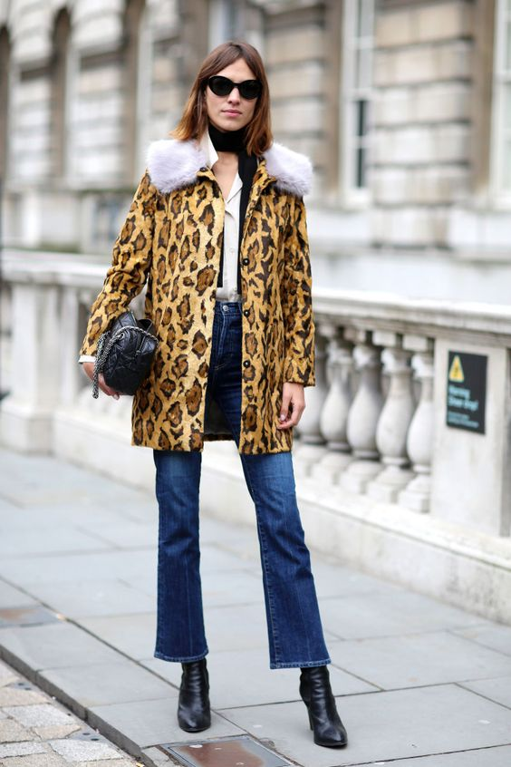 Alexa Chung in Cropped Flairs and Leopard Print Coat.jpg